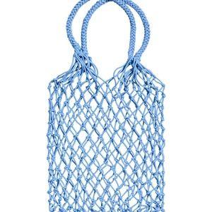 H&M Mesh shopper - Light blue